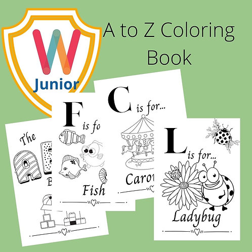 A to Z Coloring Book - 28 pages
