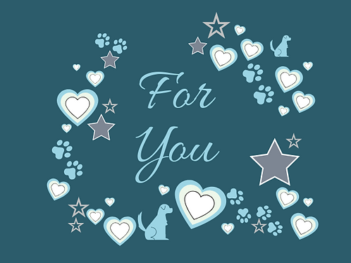 Blue For You card