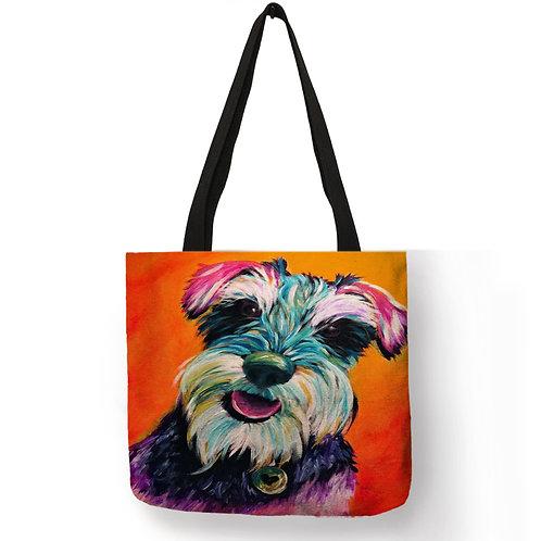 Colourful Dog Tote Bag
