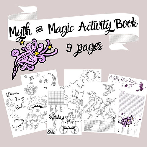 Myth & Magic book of coloring & puzzles