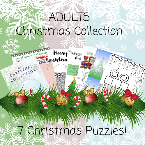 Adults Christmas Collection - 7 pages!