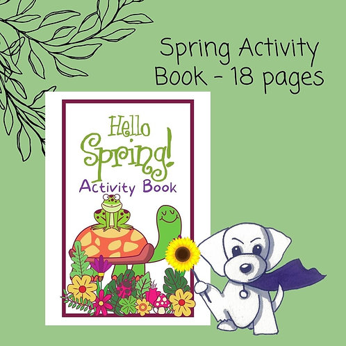 Spring Activity Book - 18 pages