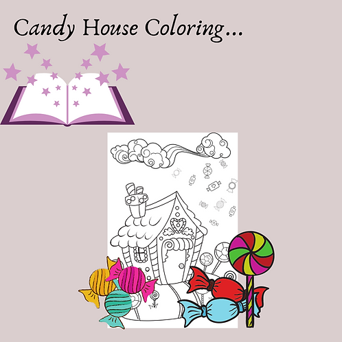 Candy House Coloring