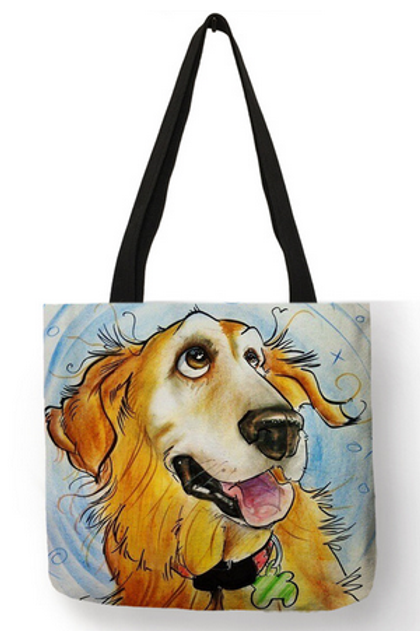 Cute Funny Blue Tote Bag