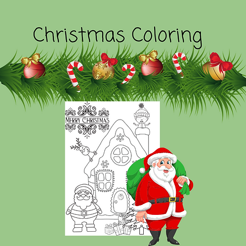 Christmas Coloring House