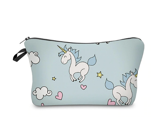 Unicorn Make Up bag with brush and Puff