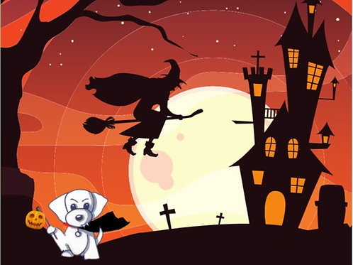 Woofy's Halloween Puzzle Book - Limited Edition