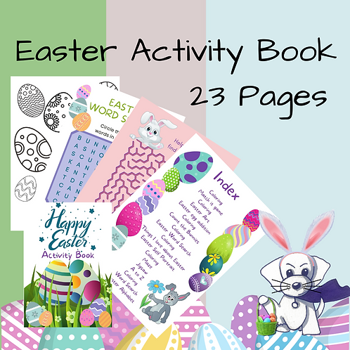 Easter Activity Book - Coloring & puzzles