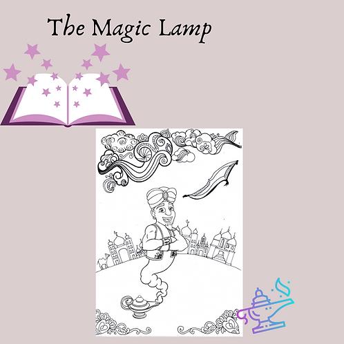 The Magic Lamp Coloring