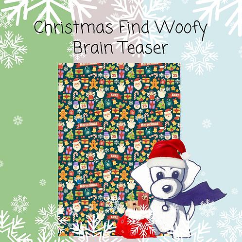 Christmas Where's Woofy Brain Teaser