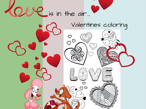 Love is in the Air Coloring