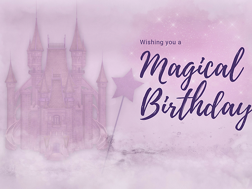 Purple Magical Birthday Card