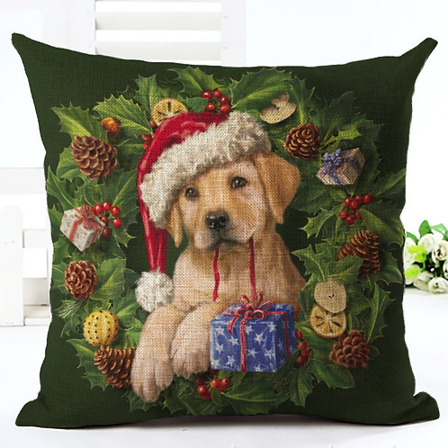 Christmas Cushion Cover - Green