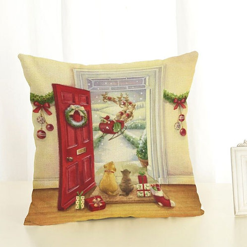 Christmas Cushion Cover - Red Door