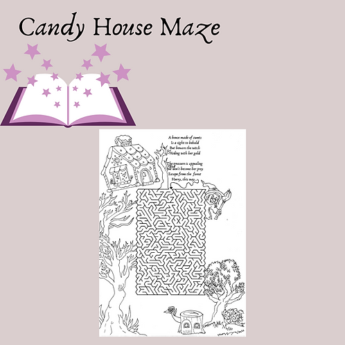 Candy House Maze and Coloring