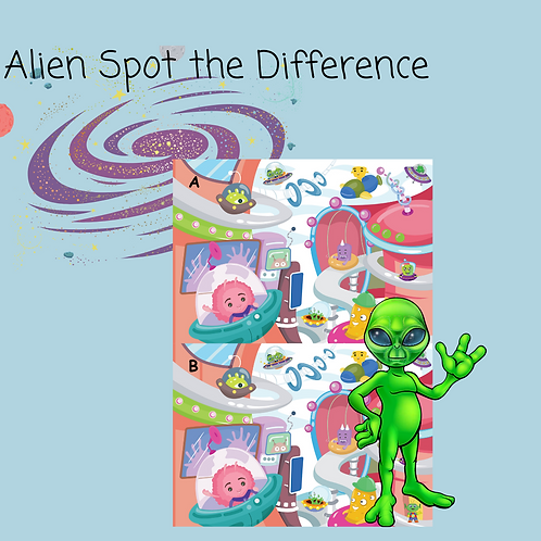 Alien World Spot the Difference