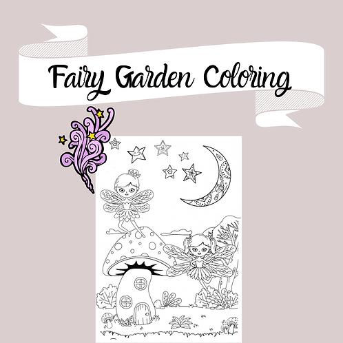 Fairy Garden Coloring