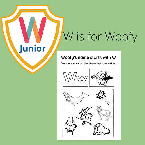 W is for Woofy Fun Kids Coloring