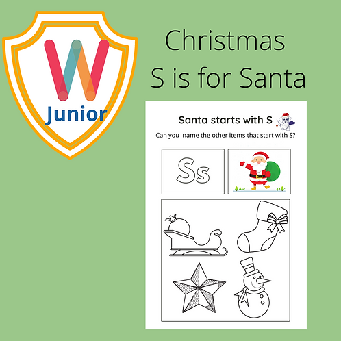 Kids S is for Santa Puzzle