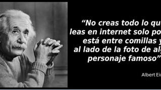 """Una """"cita de Albert Einstein""""..."""