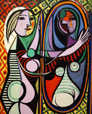 Mujer frente al espejo. Pablo Picasso