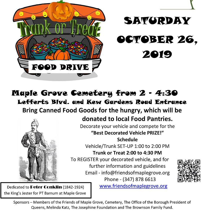 Trunk or Treat Food Drive