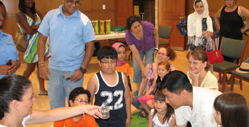 """Photos: Children learned """"hands-on"""" about the habitats of crickets and lizards at this fun learning Science Workshop!"""