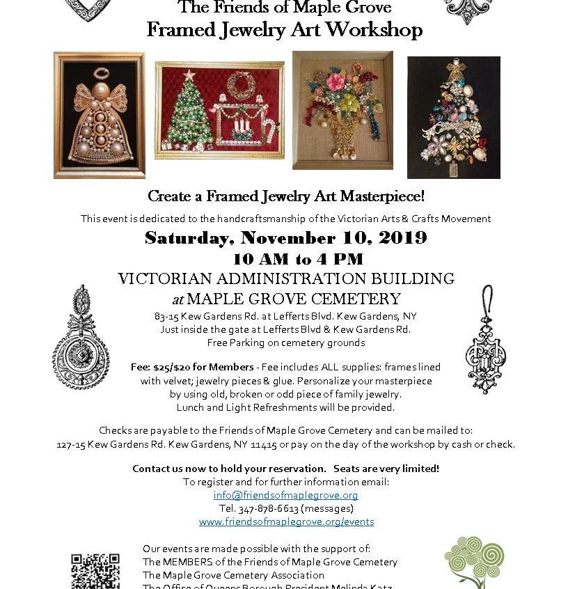 2019 11 10  Framed Jewelry Art Workshop.
