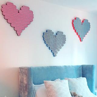 three large hearts
