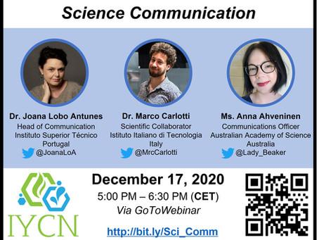 IYCN Workshop Series: Science Communication