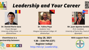 Next ChemVoices webinar: Leadership and Your Career