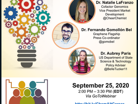 ChemVoices second webinar: Chemists beyond the bench