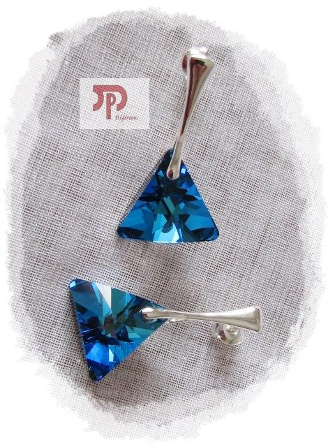 Boucles d'oreilles Cristal Swarovski bermuda blue