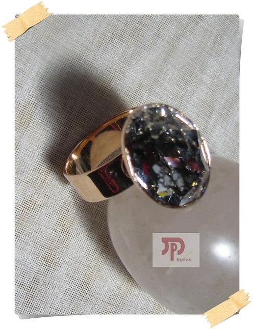 Bague dorée rose Cristal Swarovski