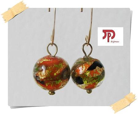 Crochets d'oreilles perles Murano