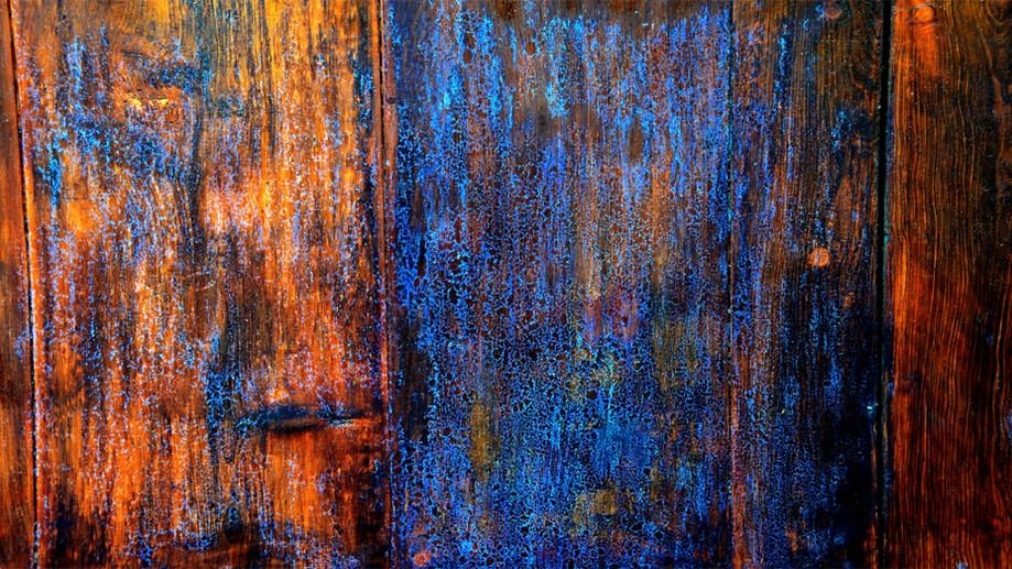 """DAY 62:  """"BLUE WOOD""""  -  2014 San Cristobal de las Casas, México"""