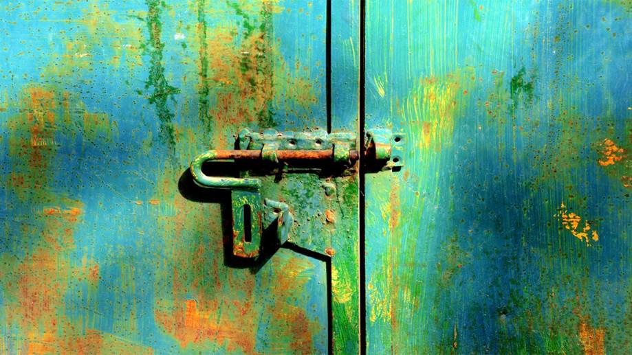 """DAY 70:  """"GREEN DOOR""""  -  2015  Villa de la Angostura, Argentina"""
