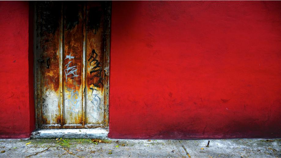 """DAY 44:  """"RED WALL""""  -  2013 México City, México"""