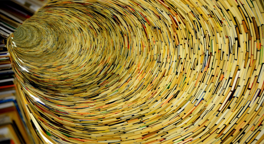 """DAY 149:  """"BOOK TUNNEL""""  -  2012  Prague, Czech Republic"""