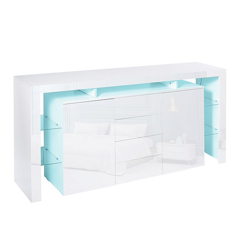Modern White High Gloss Entertainment Storage Unit