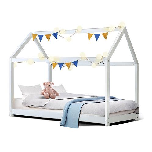Single Wooden Framed Bed
