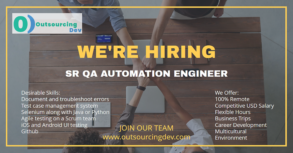 OutsourcingDev Senior QA Automation Engineer