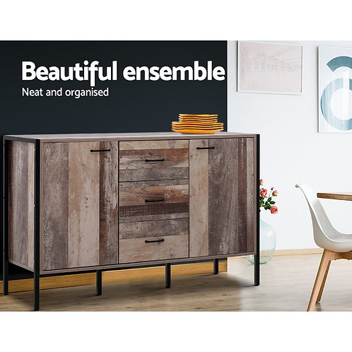 Industrial Rustic BuffetStorage Cabinet