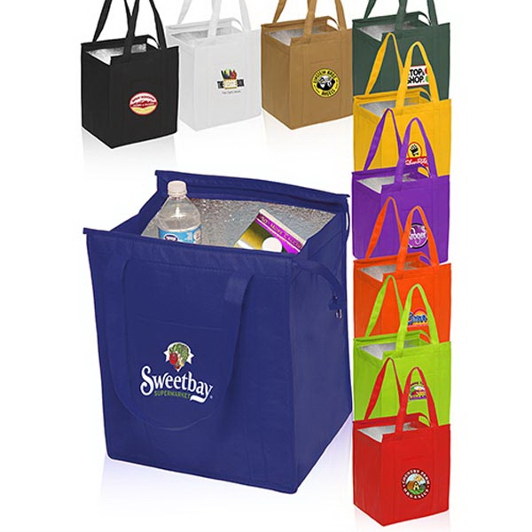 Non-woven insulated grocery tote