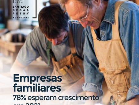 Empresas Familiares 78% esperam crescimento em 2021