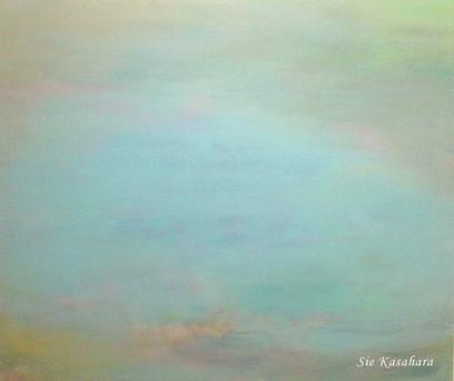幻と重なる melt with phantom  mixed media on canvas