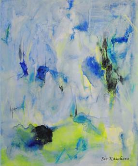 朝が来る The mornig comes  mixed media on canvas