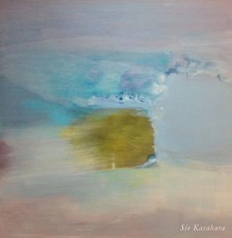 伸びては縮む時間と空間 time and space have expanded and constracted  mixed media on canvas