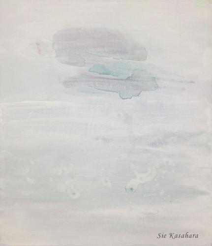 音が消えると見えてくるもの someting to see when the sounds disapperd  mixed media on canvas