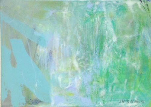 約束 promis  mixed media on canvas
